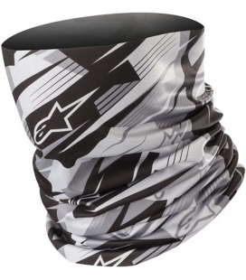BRAGA CUELLO ALPINESTARS BLURRED NECK TUBE NEGRO / ANTRACITA