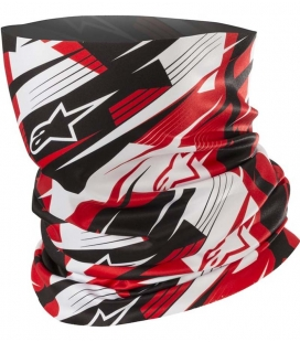 BRAGA CUELLO ALPINESTARS BLURRED NECK TUBE NEGRO / BLANCO / ROJO