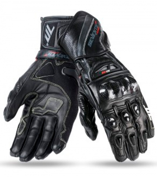 GUANTE-SEVENTY-DEGREES-R2-RACING-NEGRO-GRIS