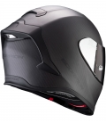 CASCO-SCORPION-EXO-R1-CARBON-AIR-SOLID-MATT-NEGRO-DETRAS