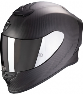 CASCO SCORPION EXO R1 CARBON AIR  SOLID MATT NEGRO