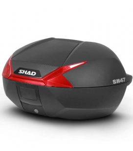 BAUL SHAD SH47 CATADRIOPTICO ROJO