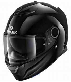 CASCO INTEGRAL SHARK SPARTAN 1.2 BLANK NEGRO ST RACING STORE