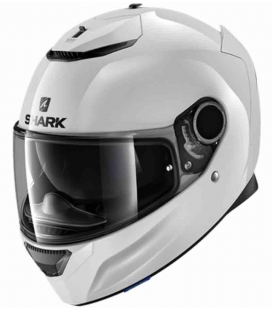 CASCO INTEGRAL SHARK SPARTAN 1.2 BLANK BLANCO ST RACING STORE