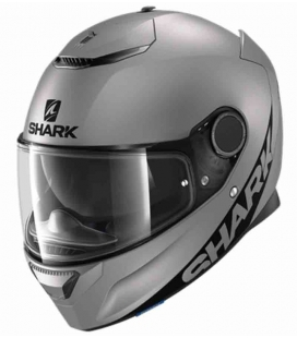 CASCO INTEGRAL SHARK SPARTAN 1.2 BLANK MAT ANTRACITA ST RACING STORE