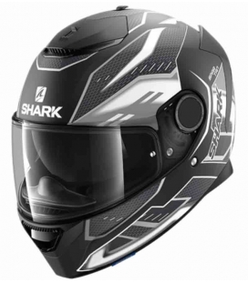 CASCO INTEGRAL SHARK SPARTAN ANTHEON MATT NEGRO / BLANCO ST RACING STORE