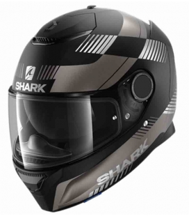 CASCO INTEGRAL SHARK SPARTAN 1.2 STRAD MATT NEGRO / ANTRACITA / PLATA ST RACING STORE