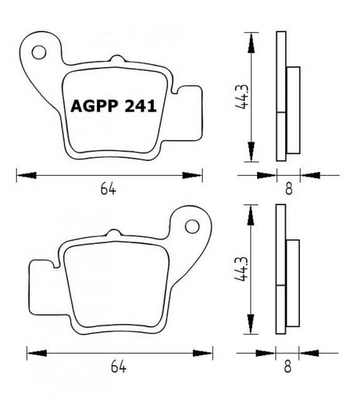 PASTILLA FRENOS ACCOSSATO AGPP241 stracingstore