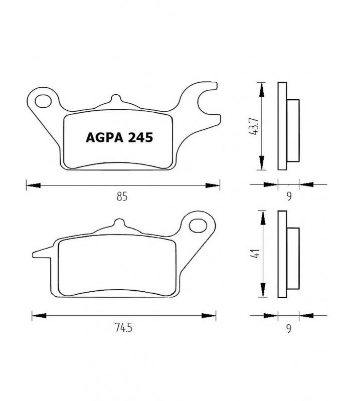 PASTILLA FRENOS ACCOSSATO AGPA245 st racing store