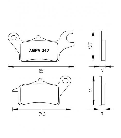 PASTILLA FRENOS ACCOSSATO AGPA247 st racing store