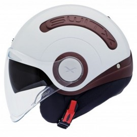 CASCO SWITX SX.10 MARRÓN CHOCOLATE/ BLANCO