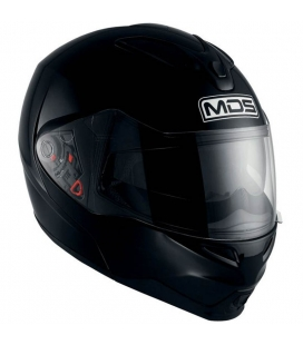 CASCO MODULAR MDS MD200 NEGRO BRILLO TALLA XS / S / XL