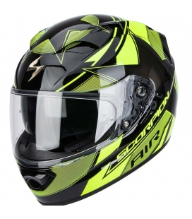 CASCO SCORPION EXO-1200 AIR STELLA NEGRO/NEON/AMARILLO  S