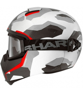 CASCO SHARK VANCORE WIPEOUT BLANCO / ROJO WAR