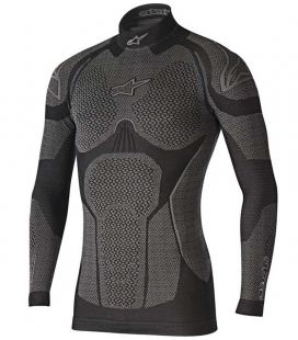 CAMISETA TÉRMICA INVIERNO ALPINESTARS RIDE TECH WINTER NEGRO / GRIS