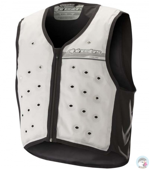 CHALECO REFRIGERANTE ALPINESTARS COOLING VEST GRIS CLARO / OSCURO